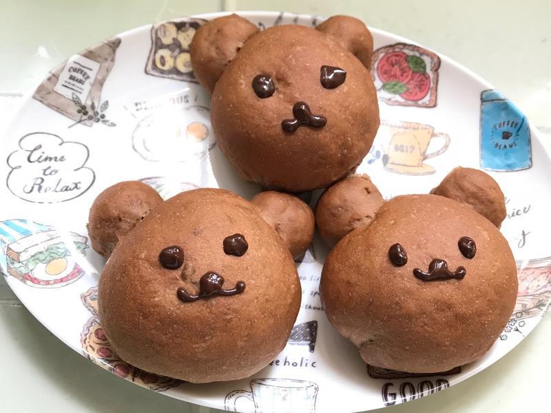 巧克力小熊麵包
