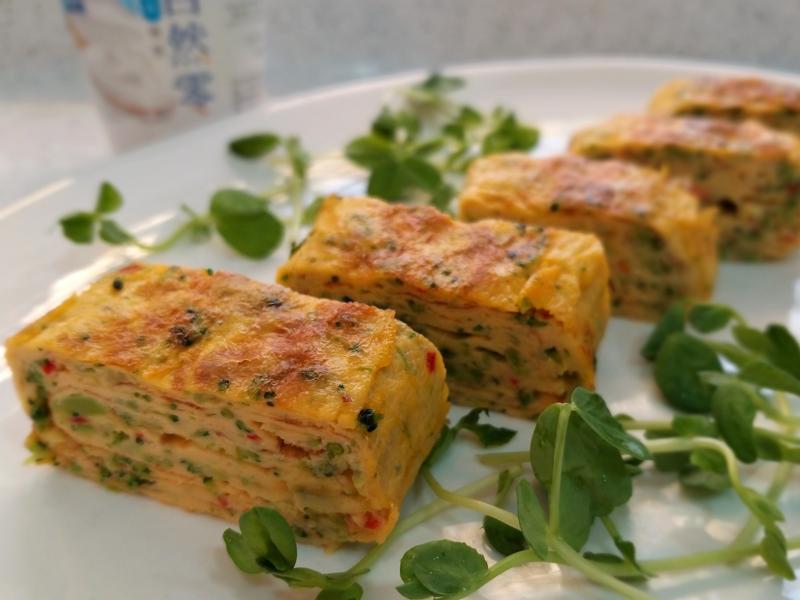 日式花椰菜玉子燒~低醣優酪便當平底鍋料理