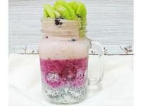 👯奇異果葡萄莓莓。隔夜燕麥果昔杯。