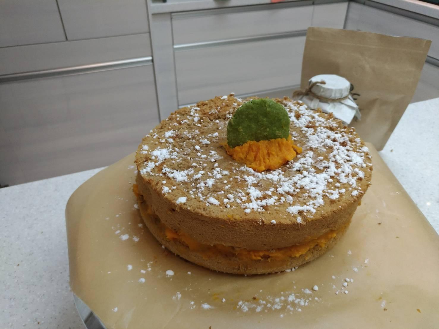 南瓜泥咖啡蛋糕