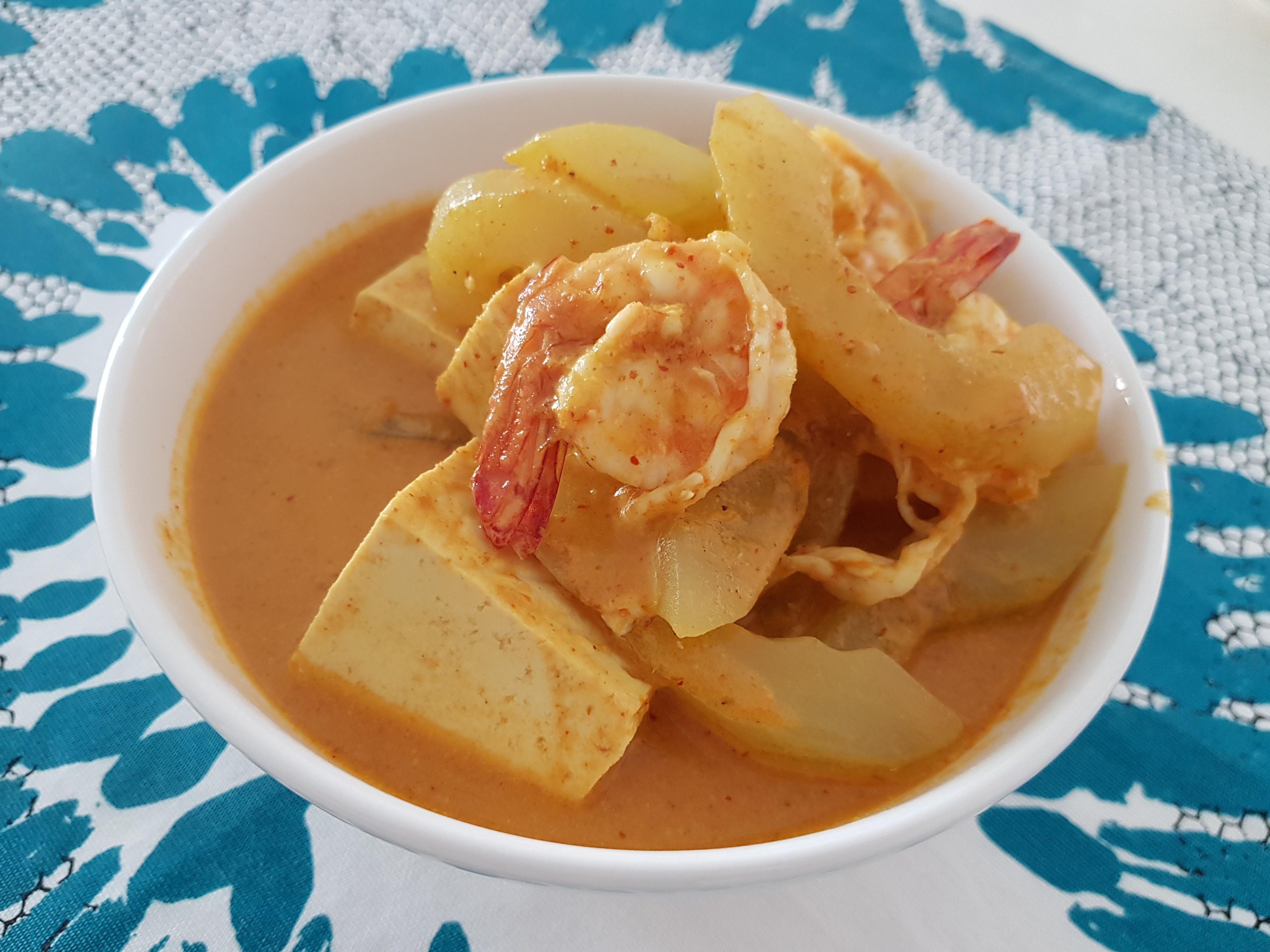 黃瓜豆腐咖喱蝦