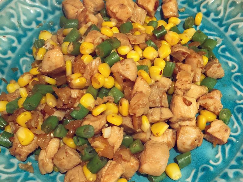 雞粒炒玉米豆豆