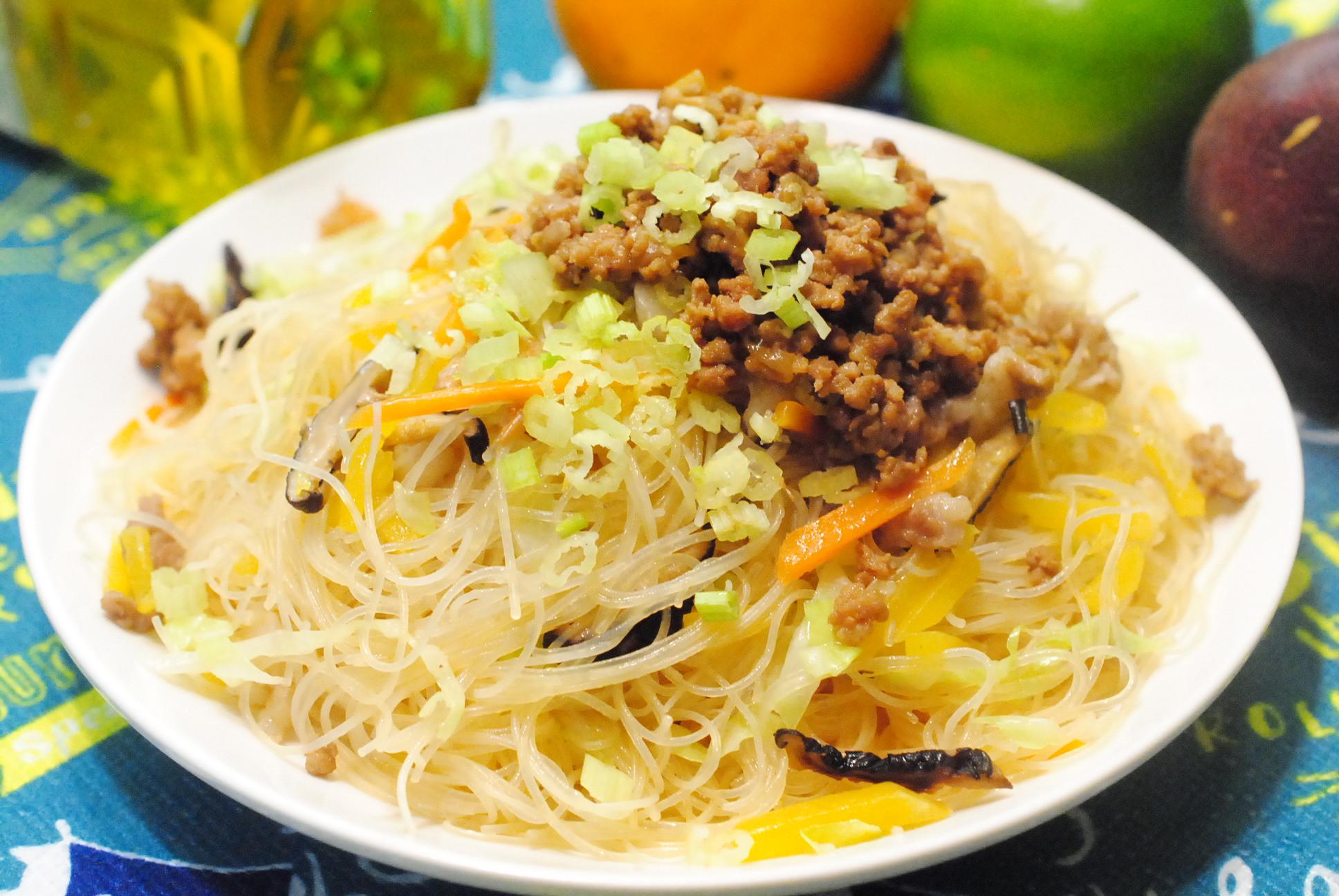 南瓜炒米粉(配肉燥)