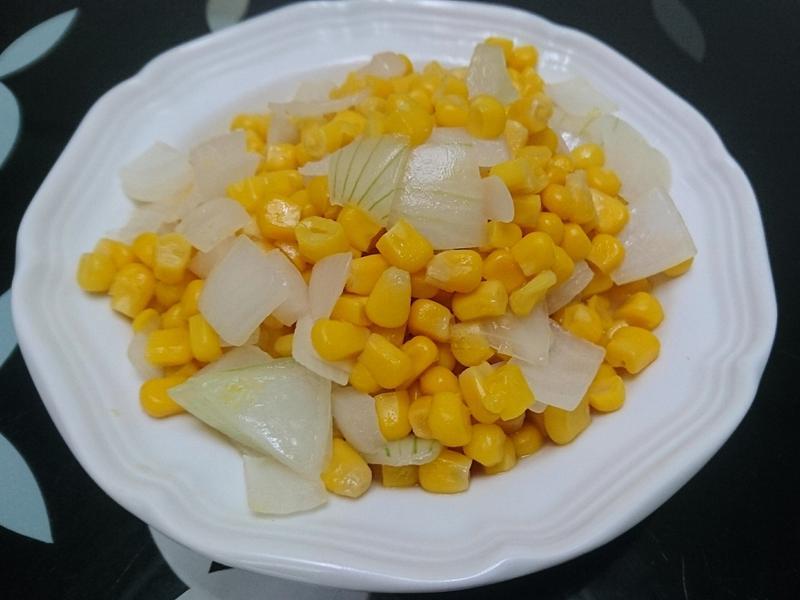 營養便當菜-洋蔥炒玉米