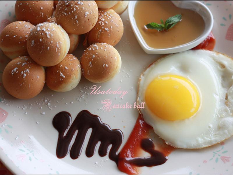 【甜牙齒】當早餐也是甜點 - 鬆餅球 Pancake balls