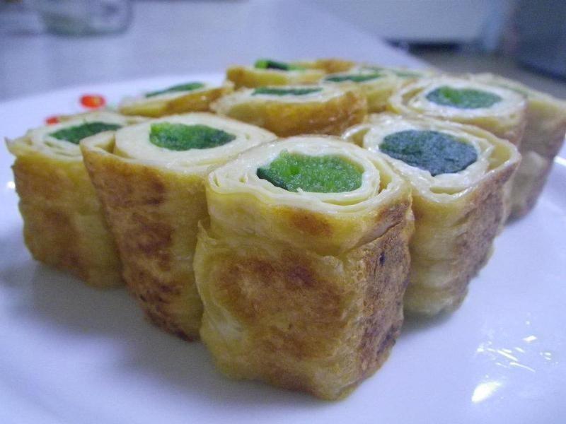 波菜豆包捲