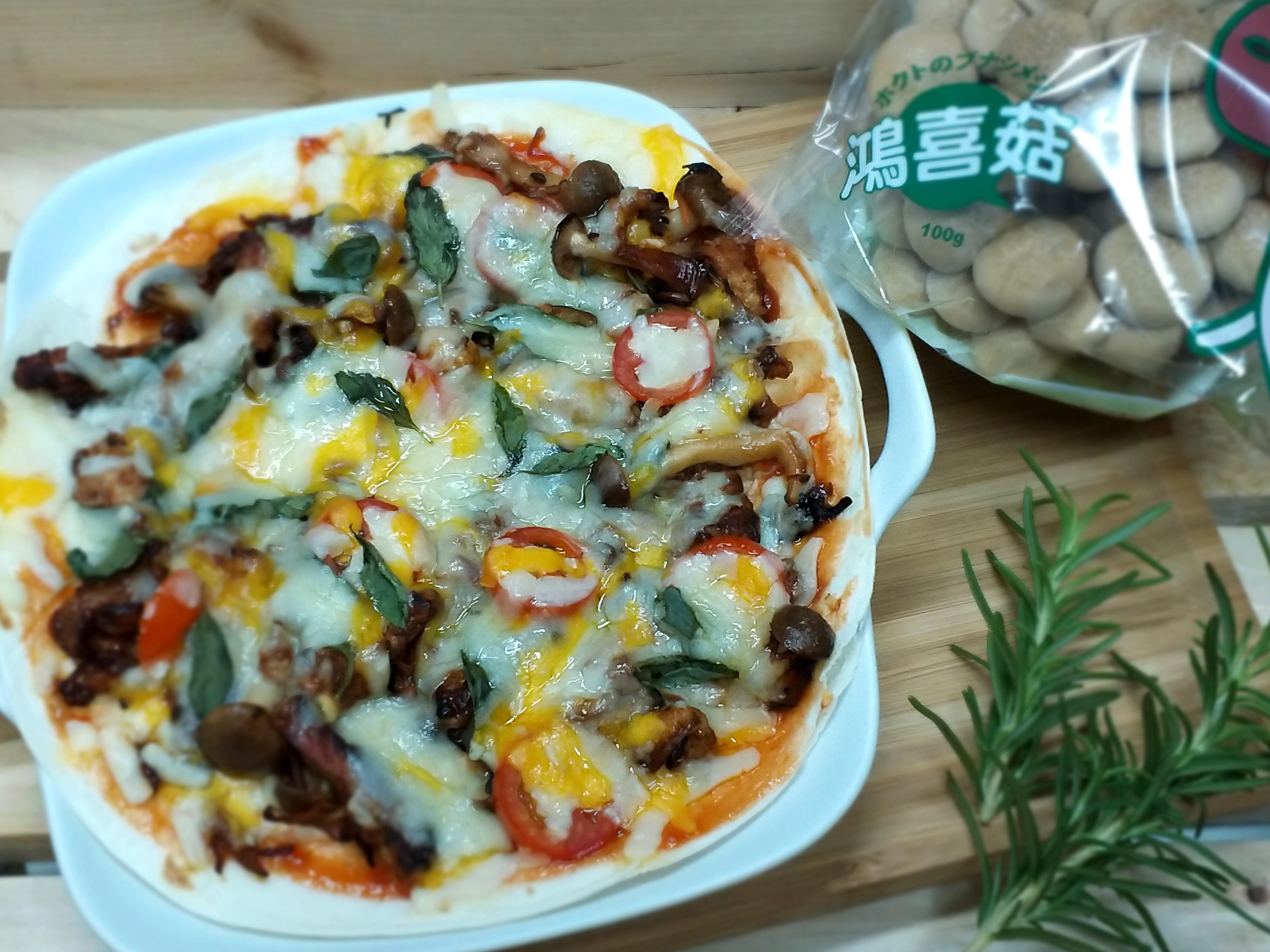 香甜番茄豬肉菇菇披薩~【好菇道親子食光】