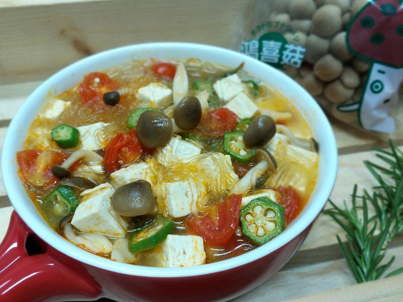 迷迭香菇菇粉絲豆腐煲~【好菇道親子食光】