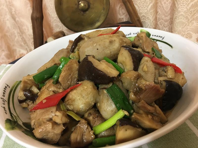 香菇芋艿燒雞
