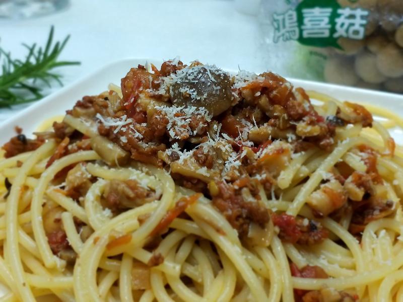 蕃茄蕈菇肉燥義大利麵-【好菇道親子食光】
