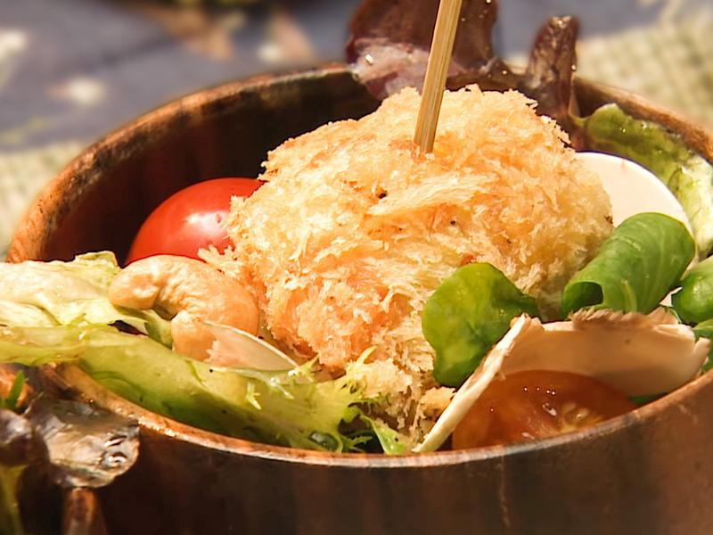 甘藷起司可樂餅沙拉碗 │ 日式洋食