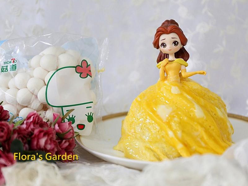 公主裙蛋包飯~好吃可愛【好菇道親子食光】