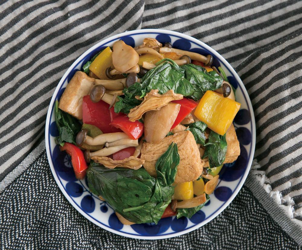 減醣午餐組合之三杯豆腐菇菇時蔬