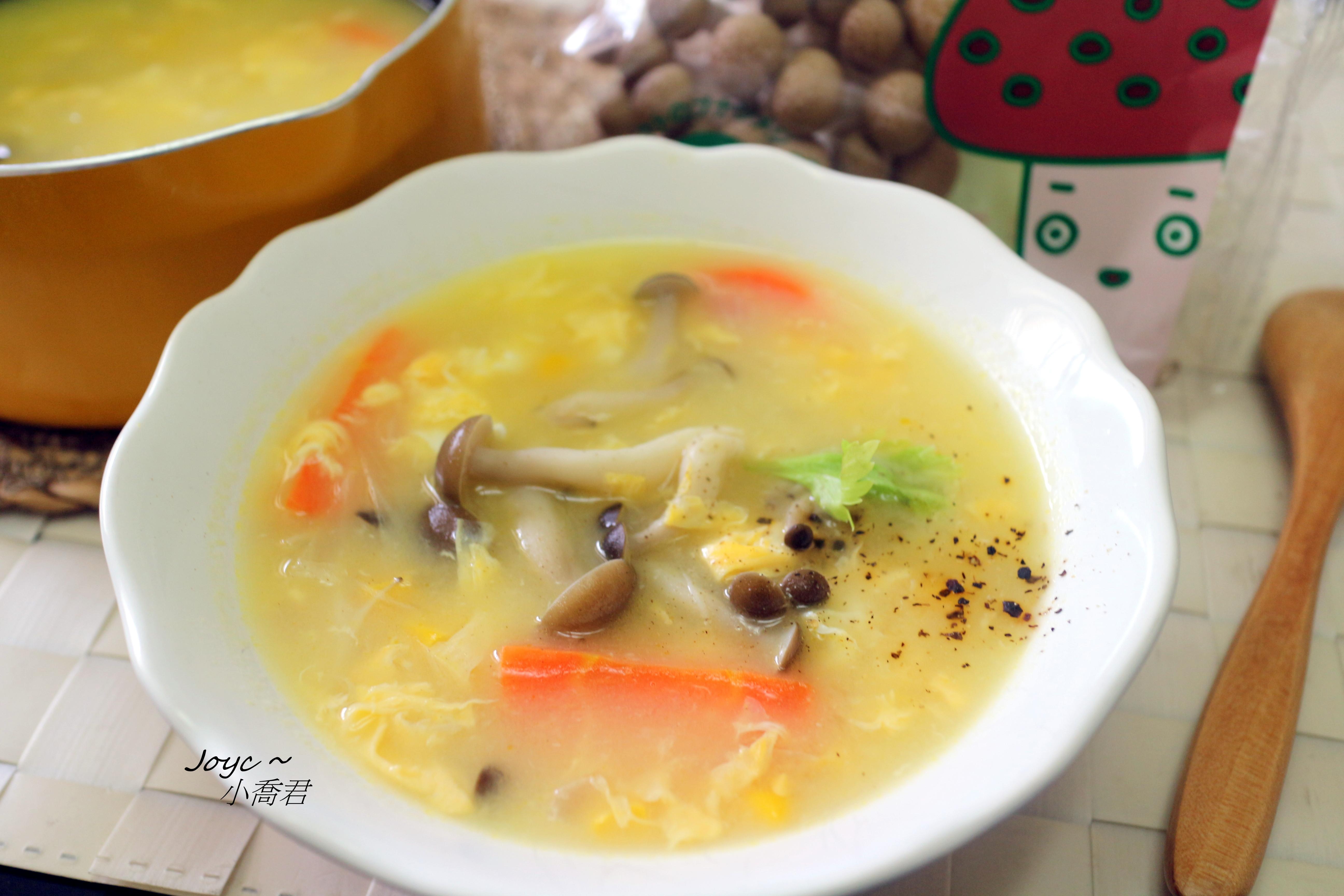 菇菇玉米蛋花湯【好菇道親子食光】