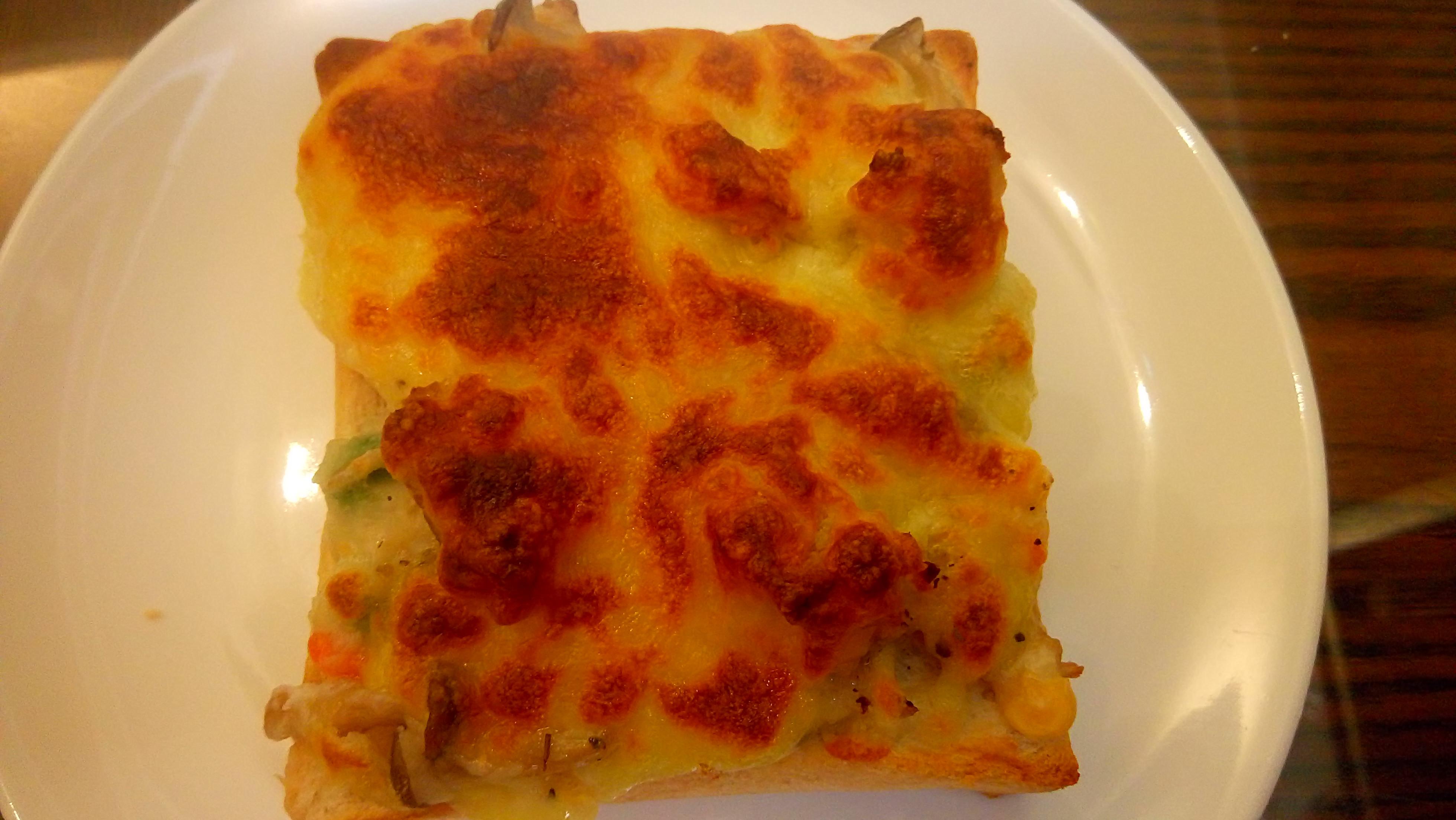 白醬菇菇焗烤厚片《好菇道親子食光》