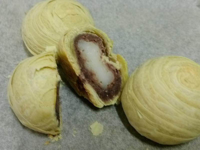 宇治金時白玉千層酥(抹茶紅豆酥)