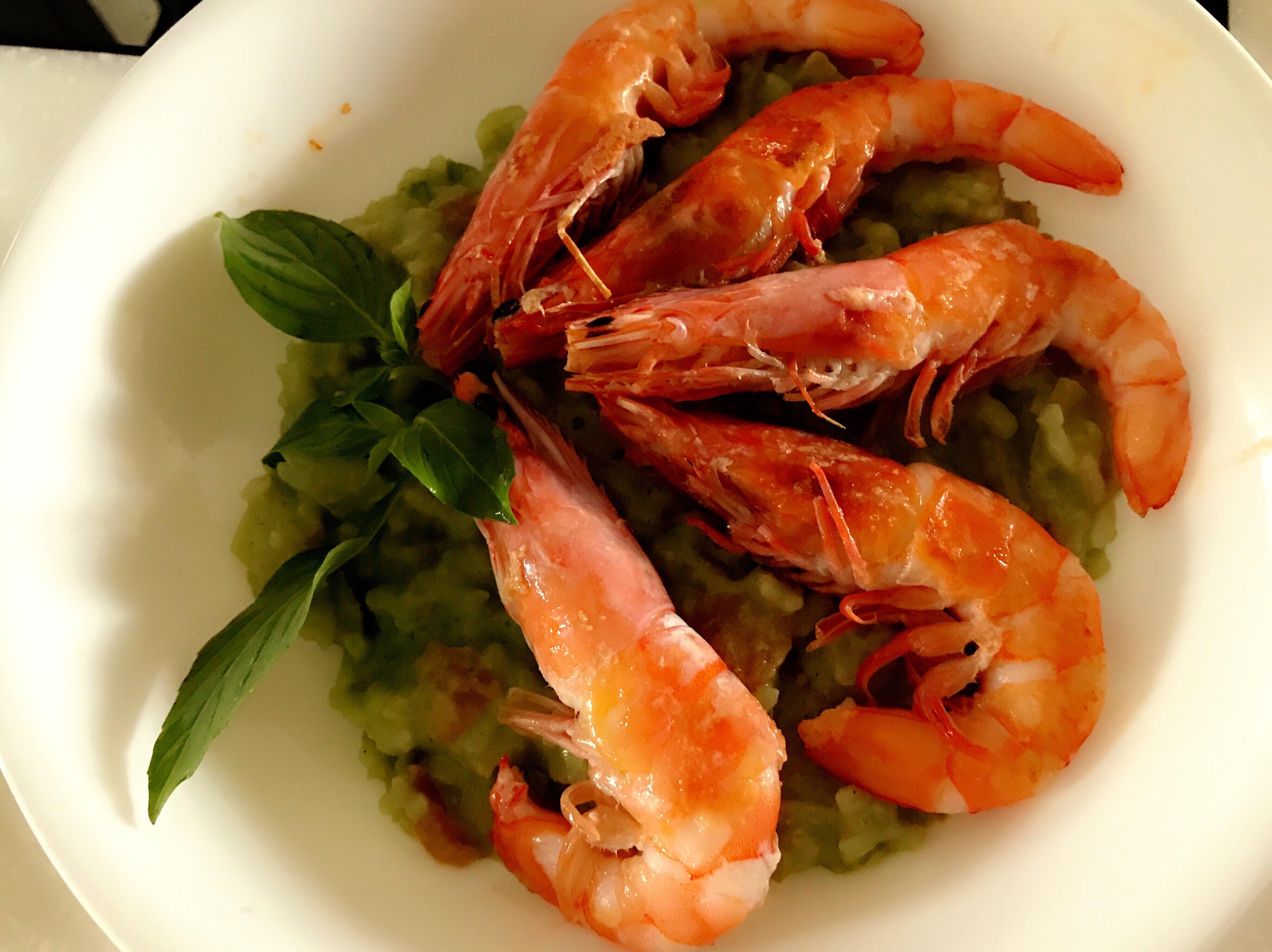 鮮蝦青醬燉飯