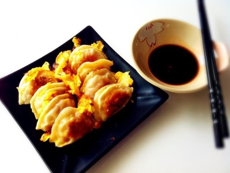 ♥小雨廚房♥黃金雞蛋煎餃