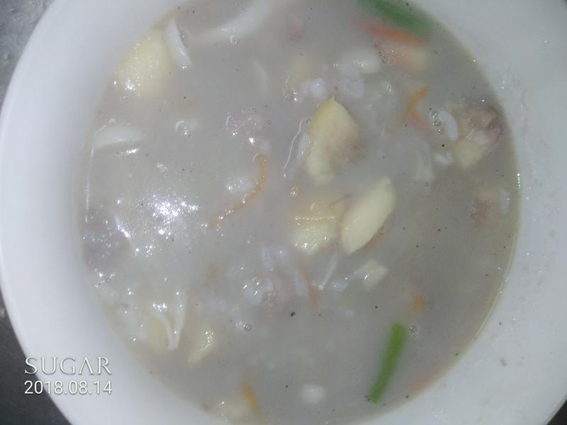 水蜜桃芋頭粥(好菇道親子時光)