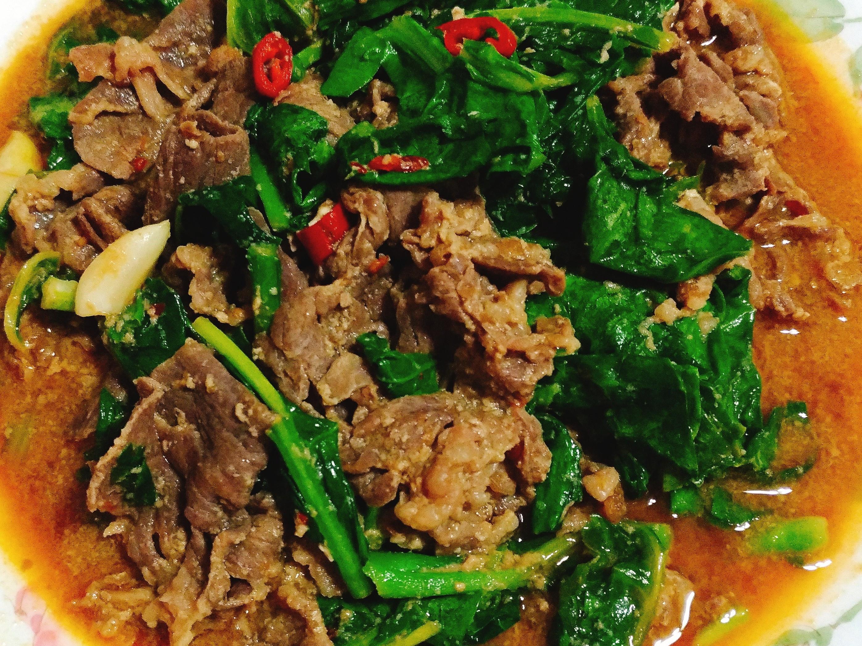 芥藍炒牛肉