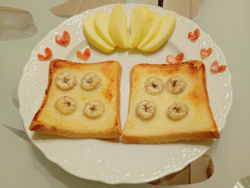 香蕉煉乳吐司