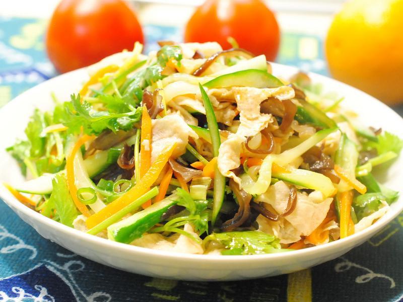 涼拌豆皮蔬菜