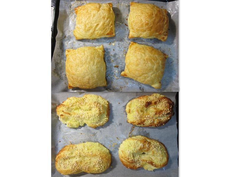 65℃湯種麵包~肉鬆起酥麵包、椰子麵包[麵包機做麵糰+發酵]