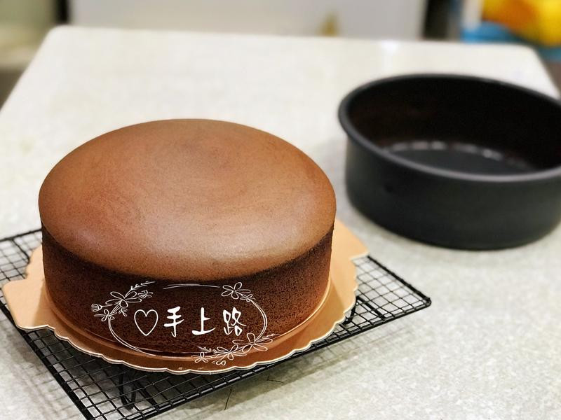 法芙娜可可棉花蛋糕 8吋 燙麵 水浴烘烤