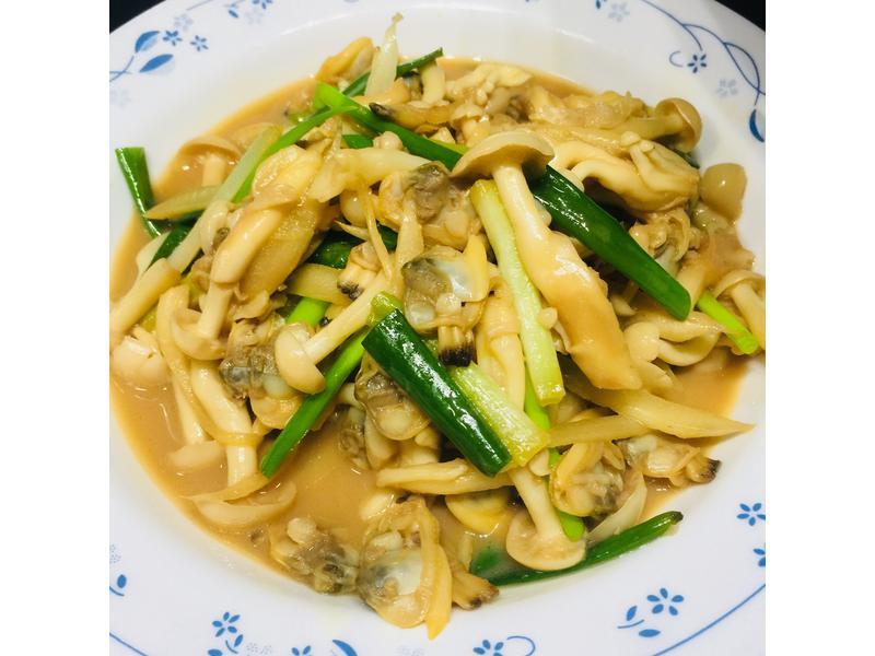 蛤肉炒鮮菇[好菇道親子食光]