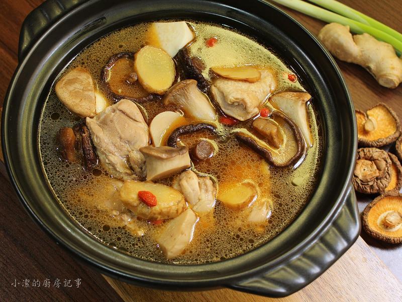 麻油香菇雞湯【電子鍋料理】