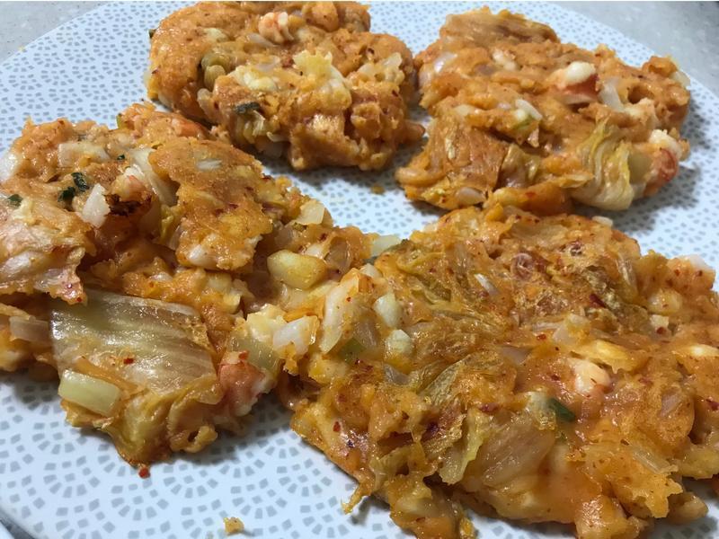 떡국김치전 特色韓式泡菜煎餅