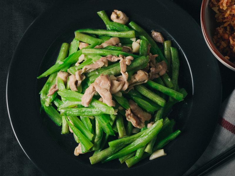 雞絲炒蔬菜