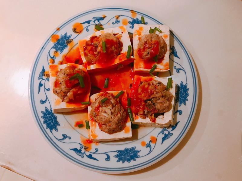 茄汁酿豆腐