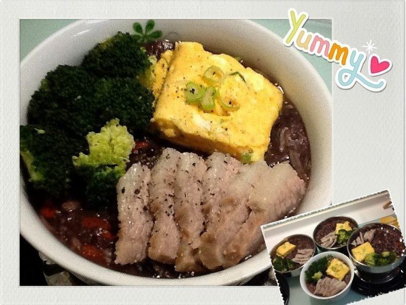明目紫米粥