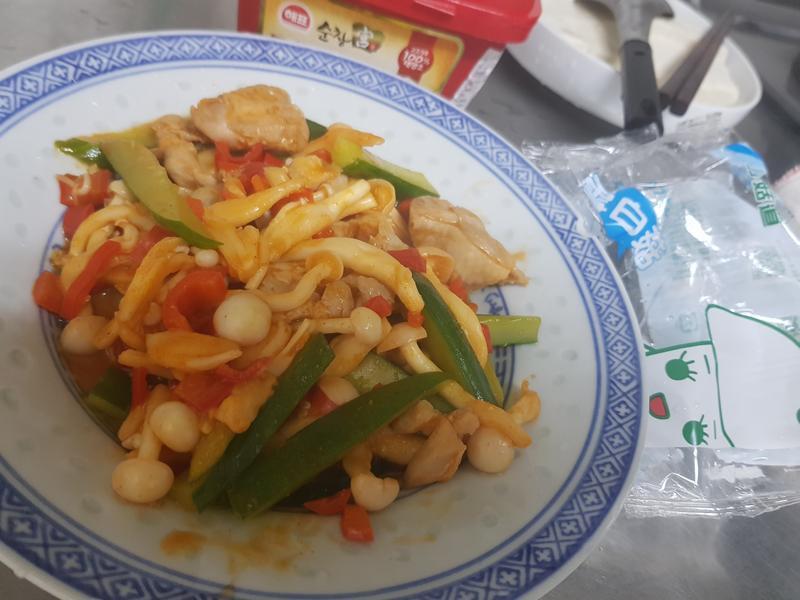 韓式辣醬菇菇雞(好菇道親子食光)