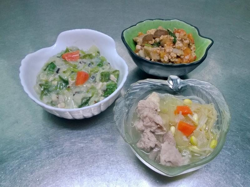 鮮食🐾雜菜粥 新打拋豬 黃瓜豆芽湯