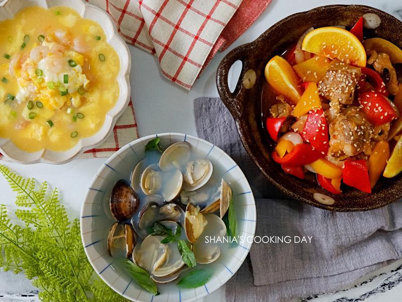 【水波爐料理】橙汁排骨&滑蛋蝦仁