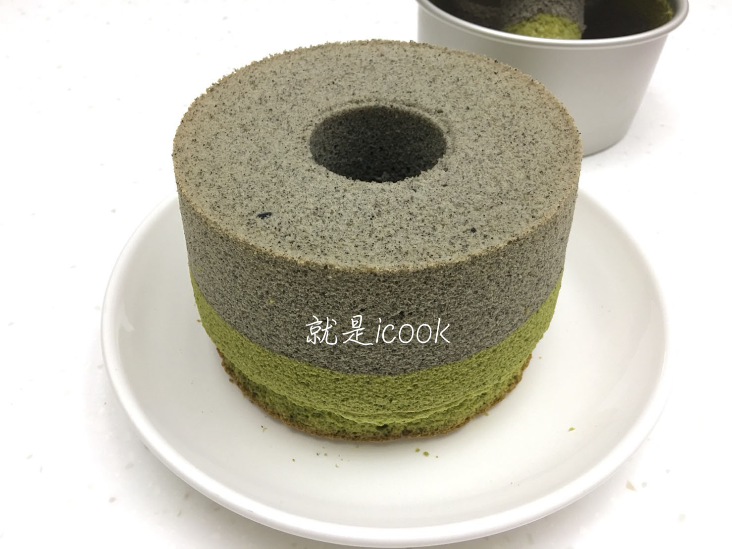 香濃芝麻綠茶戚風蛋糕(6吋中空模)