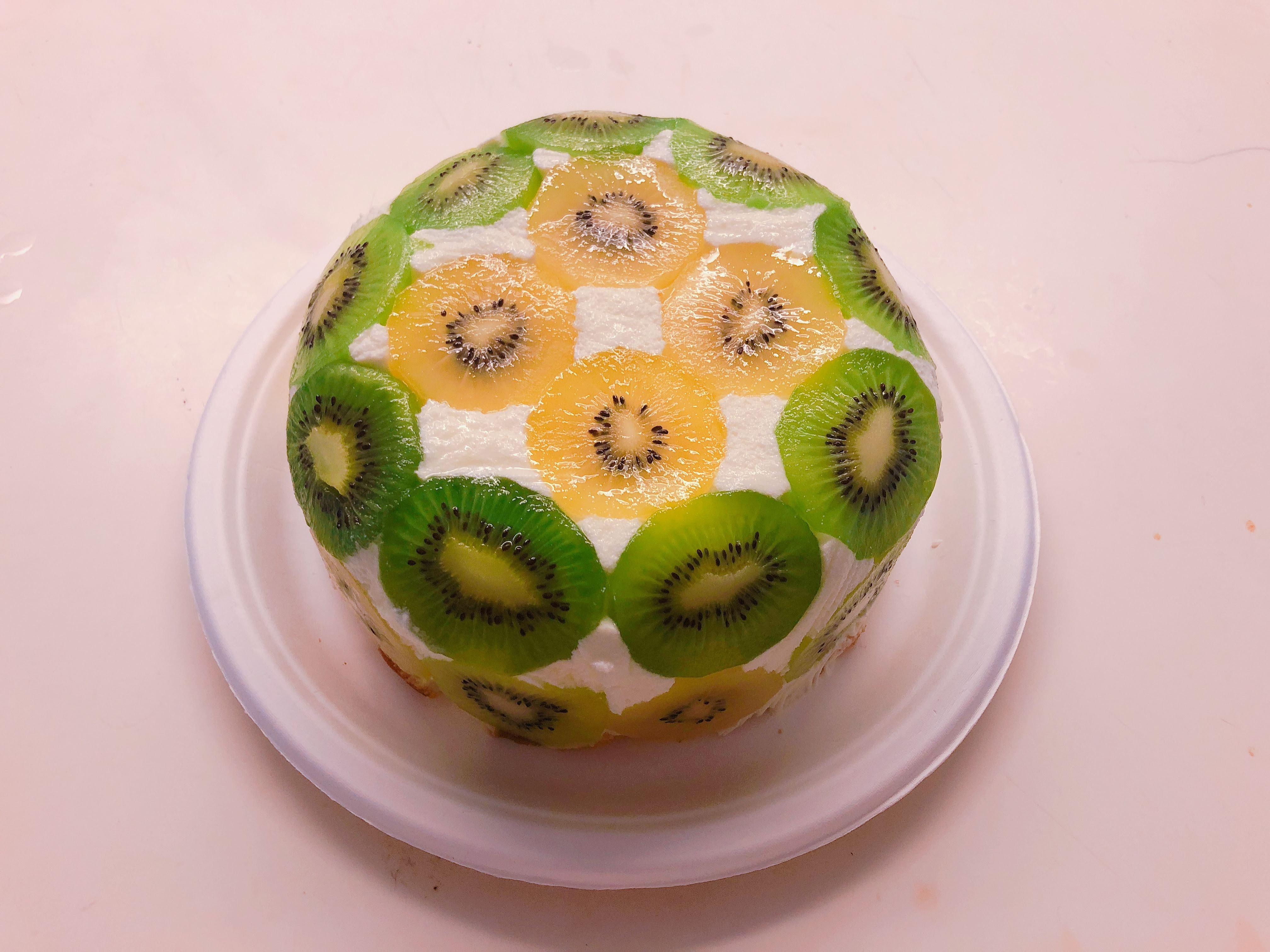 免烤箱!水果圓頂蛋糕 dome cake