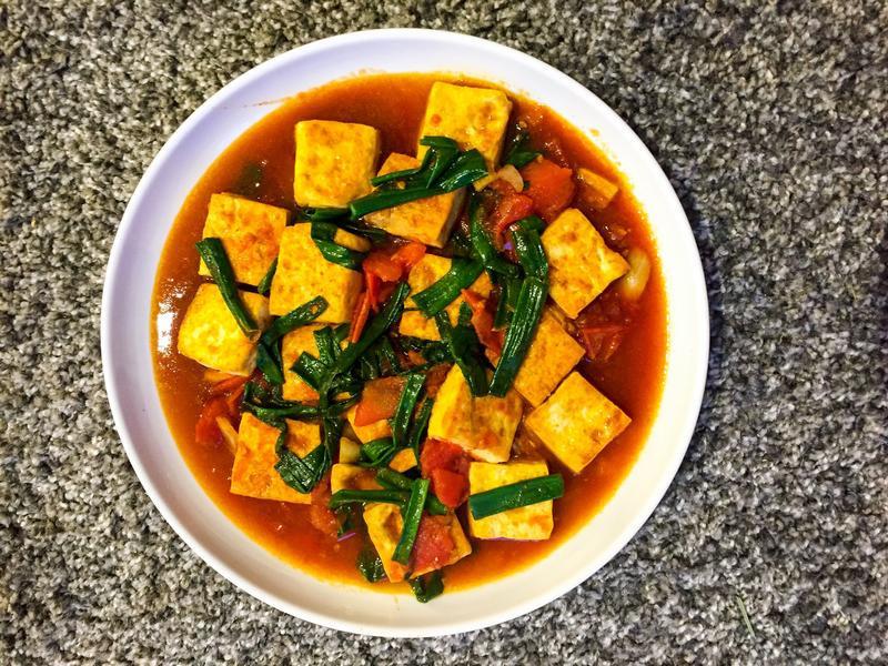 蕃茄炒豆腐