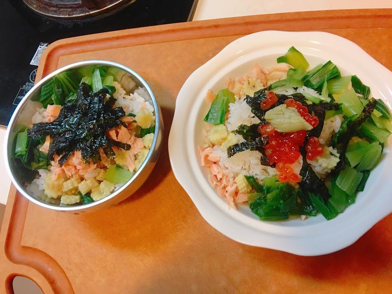 鮭魚親子海苔泡飯