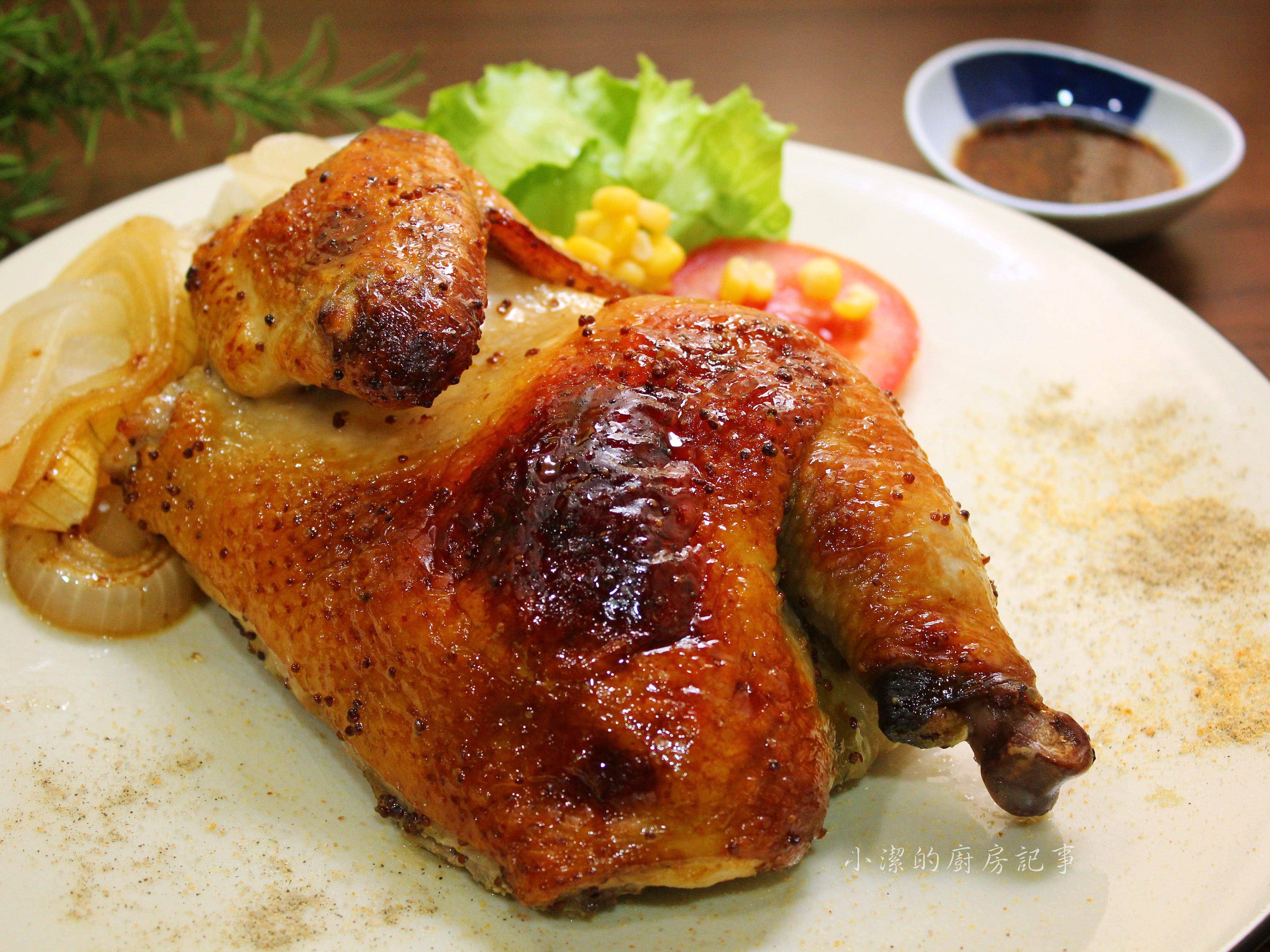 蜂蜜芥末烤半雞