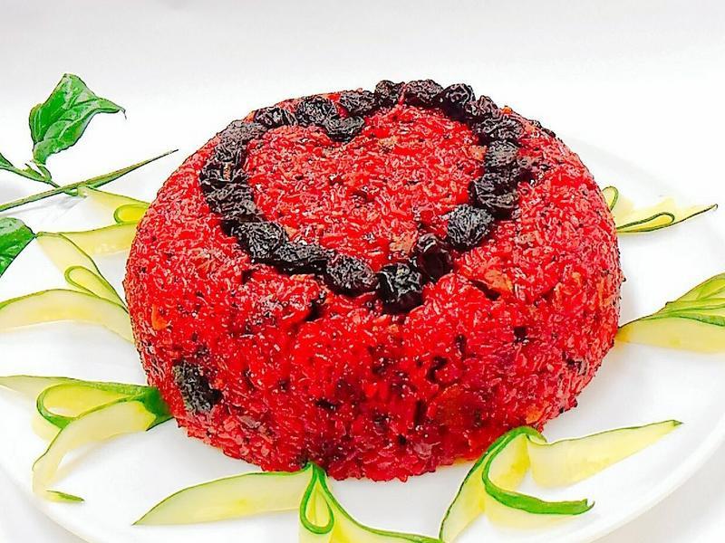 食譜名稱:養生紅麴米糕