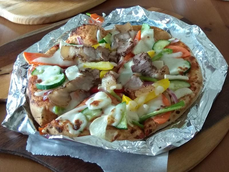 客家鹹豬肉披薩