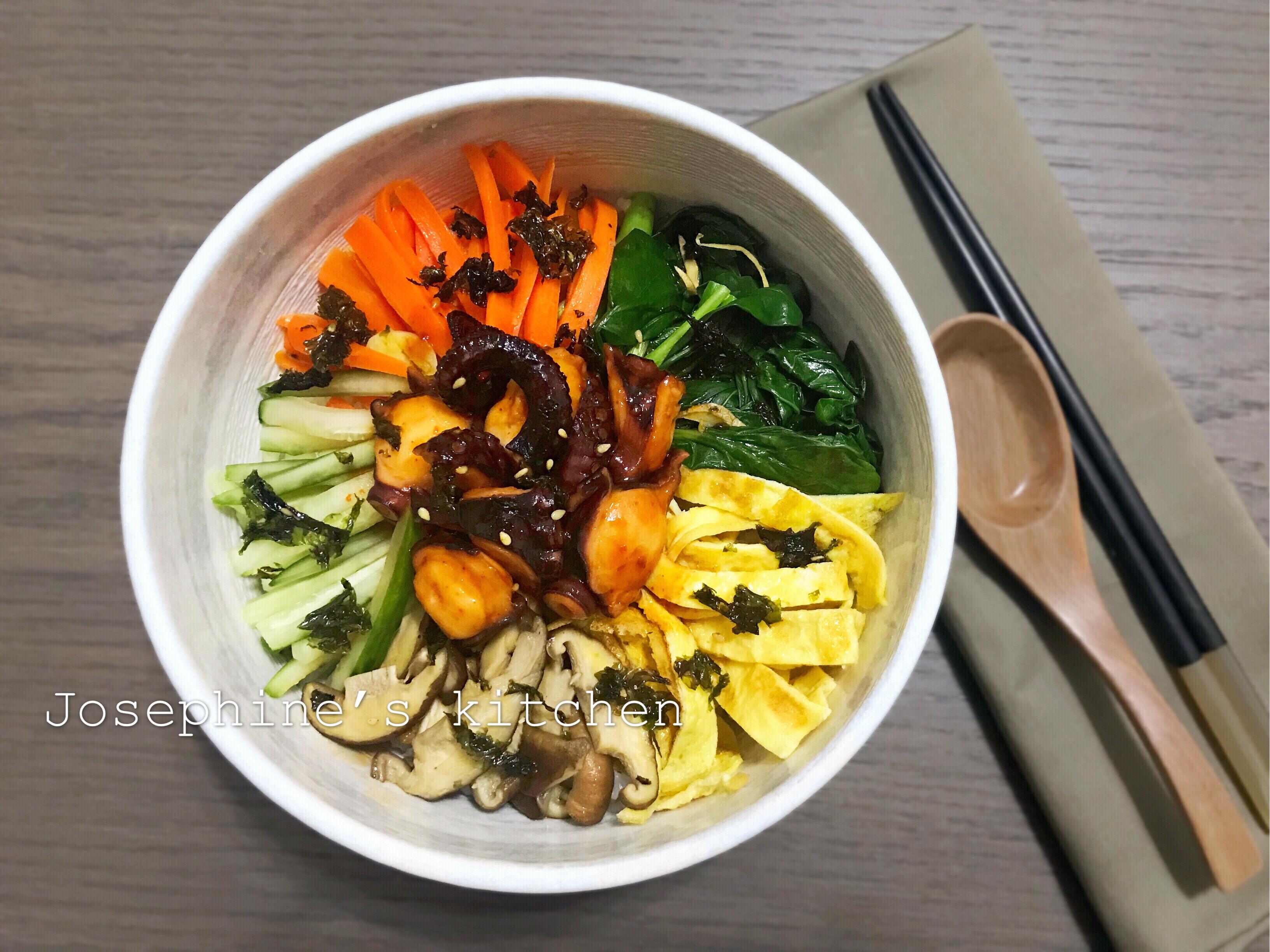 韓式章魚拌飯
