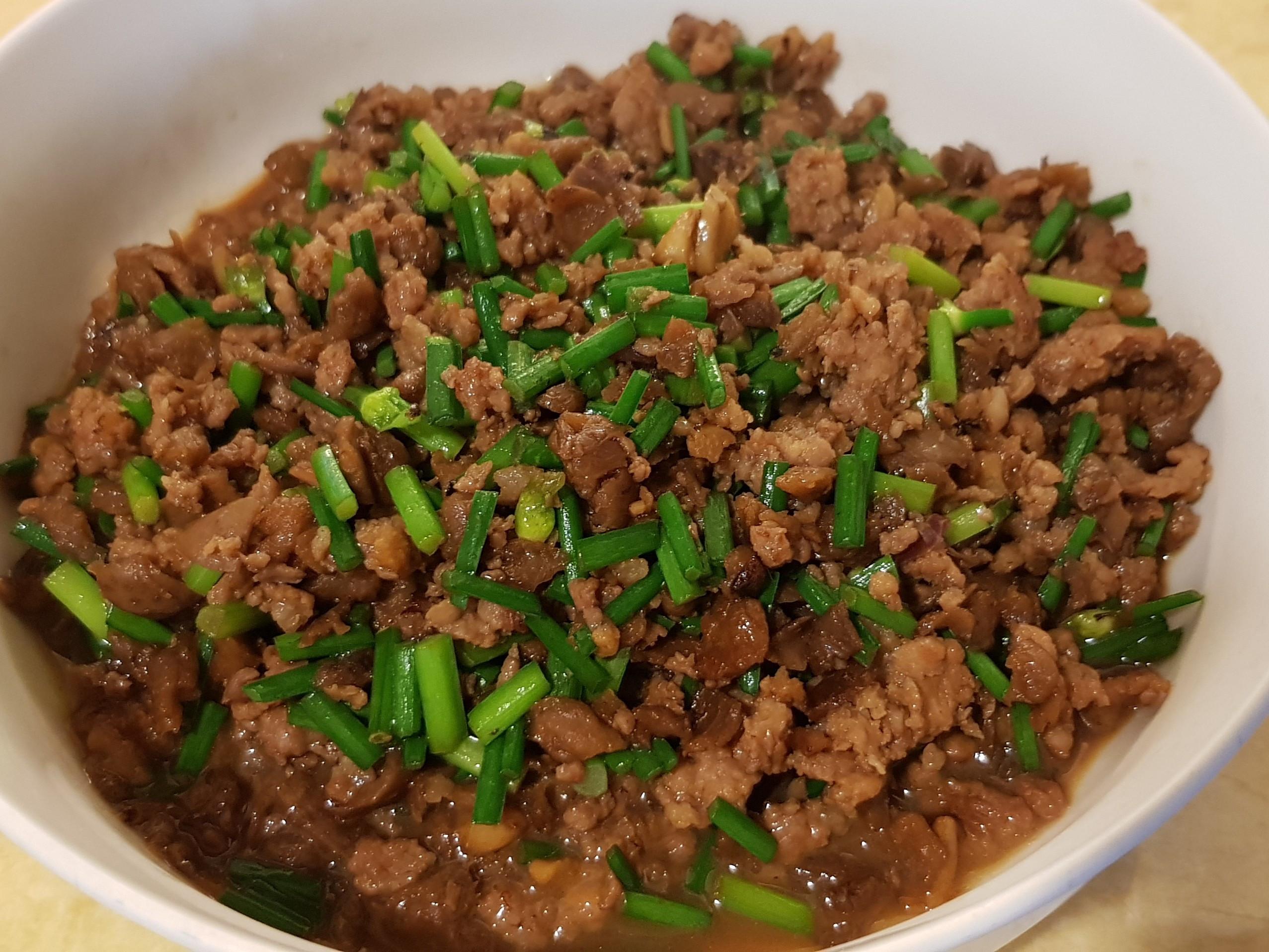 韭菜菜脯肉末