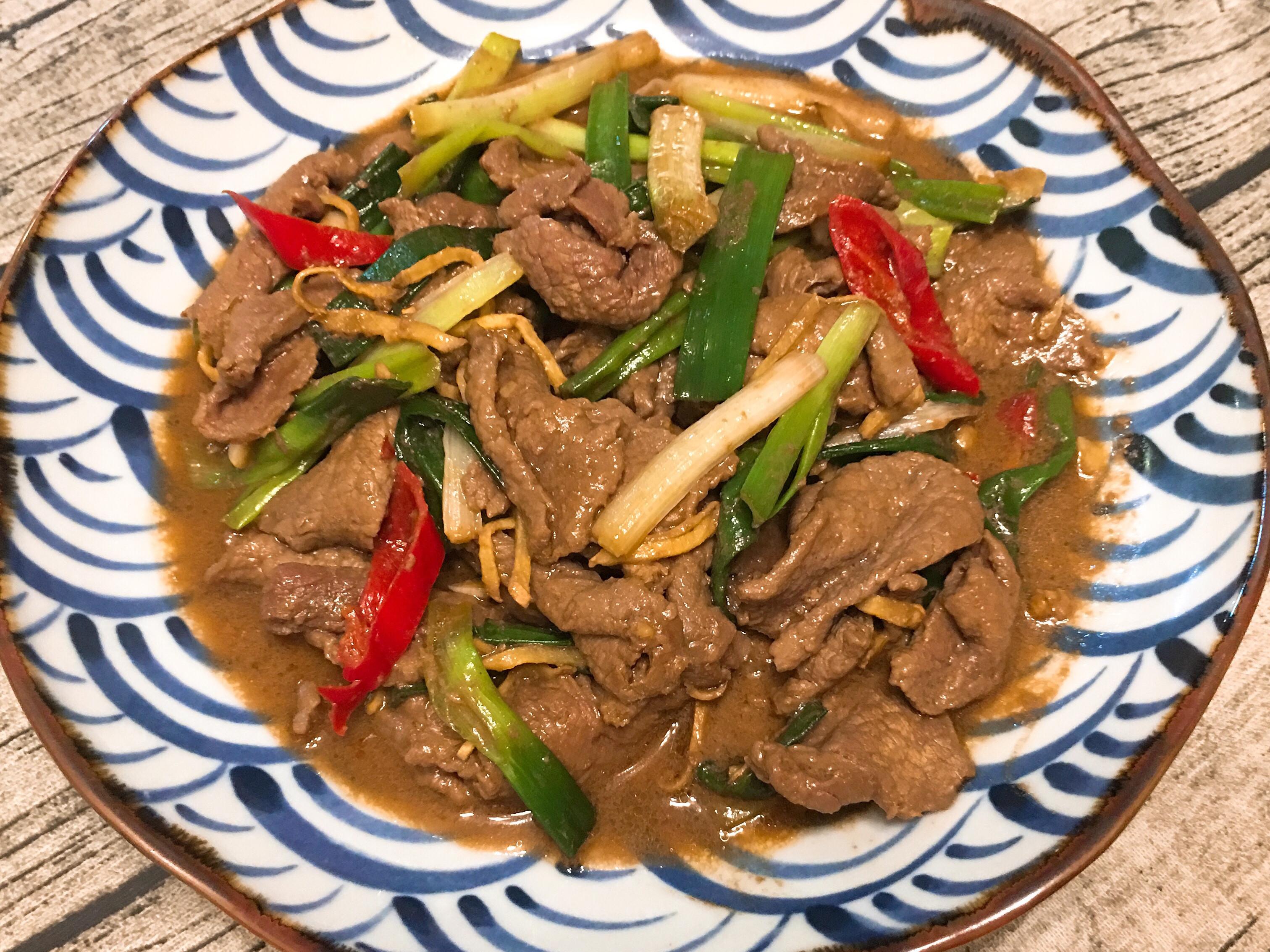 家常版熱炒料理:蔥爆牛肉