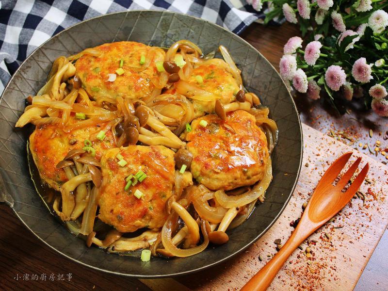 照燒菇菇雞堡排