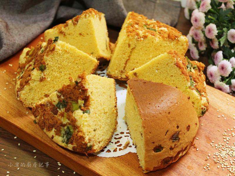 肉鬆鹹蛋糕【電子鍋料理】