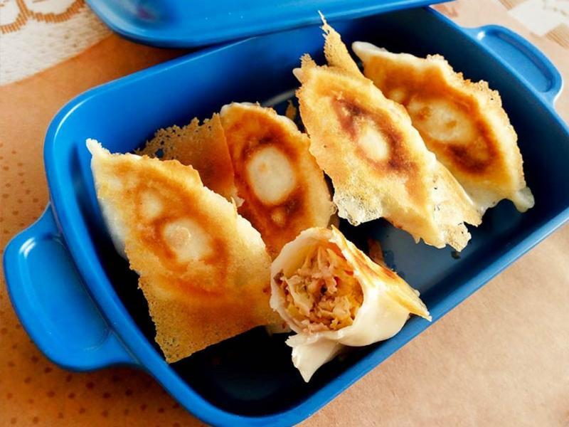 蘑菇醬香豆皮餃